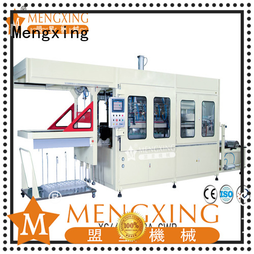 Mengxing plastic vacuum forming machine plastic container making lunch box production