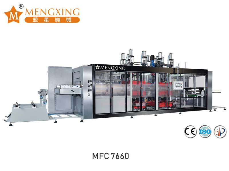 Fully-auto vacuum pressure forming machine 3 station MFC7660