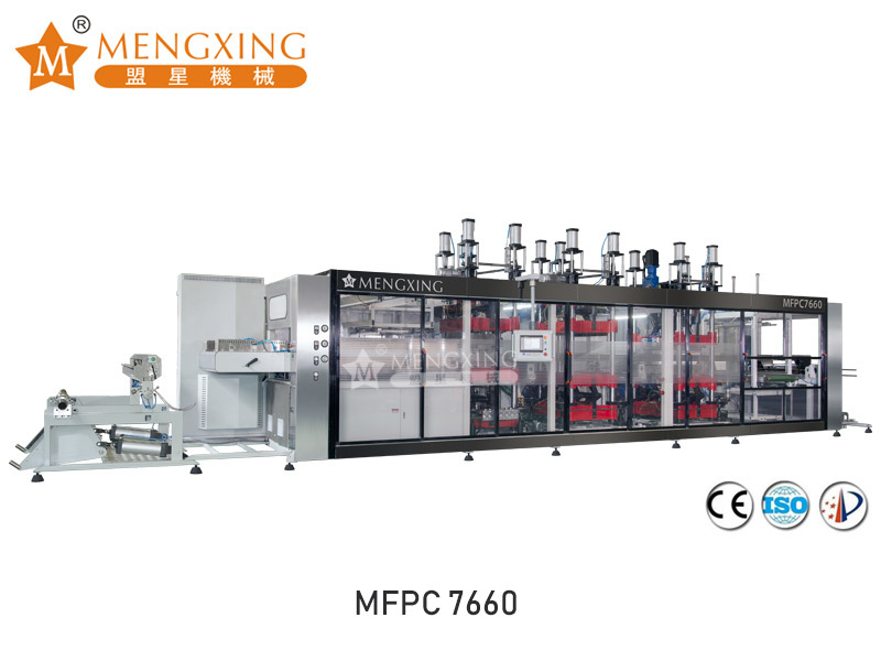 Full atomatic vacuum pressure forming machine 4 station MFPC7660
