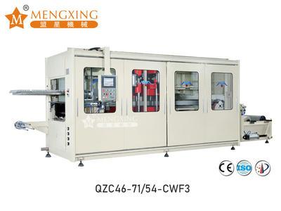 Full-auto vacuum pressure forming machine 3 station QZC46-71/54-CWF3