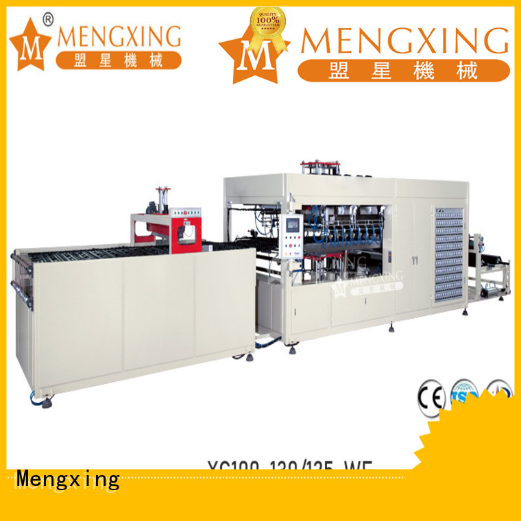 Mengxing top selling vacuum molding machine plastic container making lunch box production