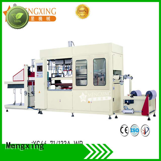 Mengxing fully auto plastic vacuum forming machine plastic container making lunch box production