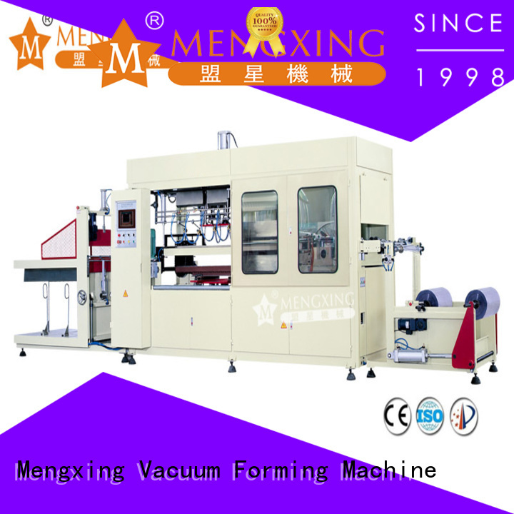 Mengxing top selling pp vacuum forming machine plastic container making easy operation
