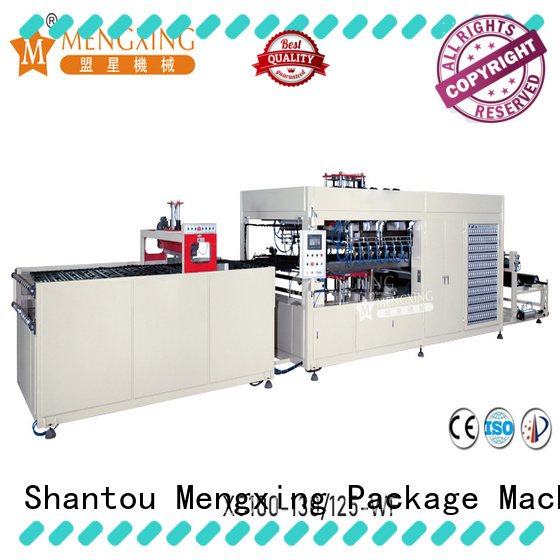 Mengxing fully auto pp vacuum forming machine plastic container making lunch box production