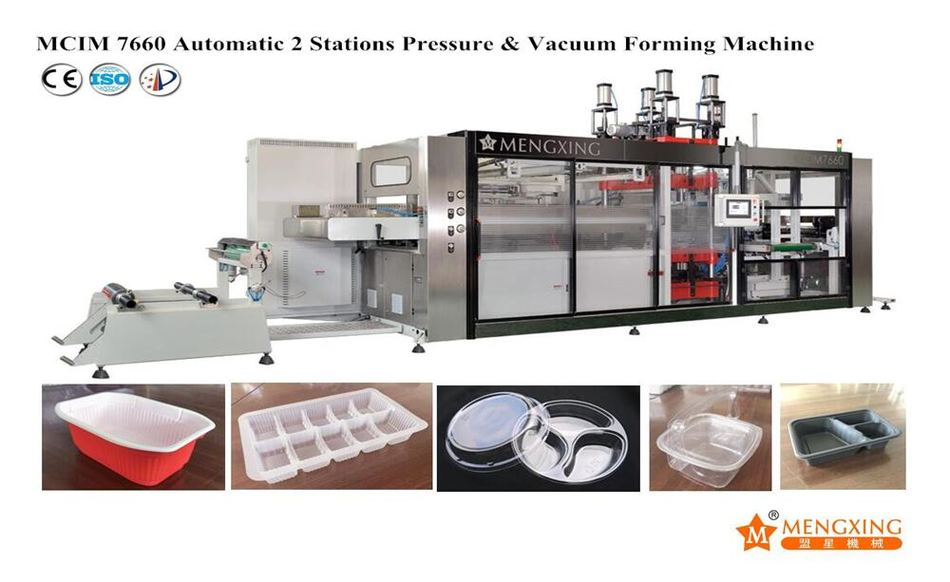 Automatic Vacuum Pressure Forming Machine 2 Station Mengxing MCIM7660