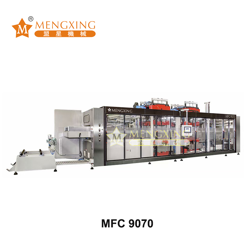 MFC9070 Servo Automatic 3 stations Pressure Thermoforming Machine